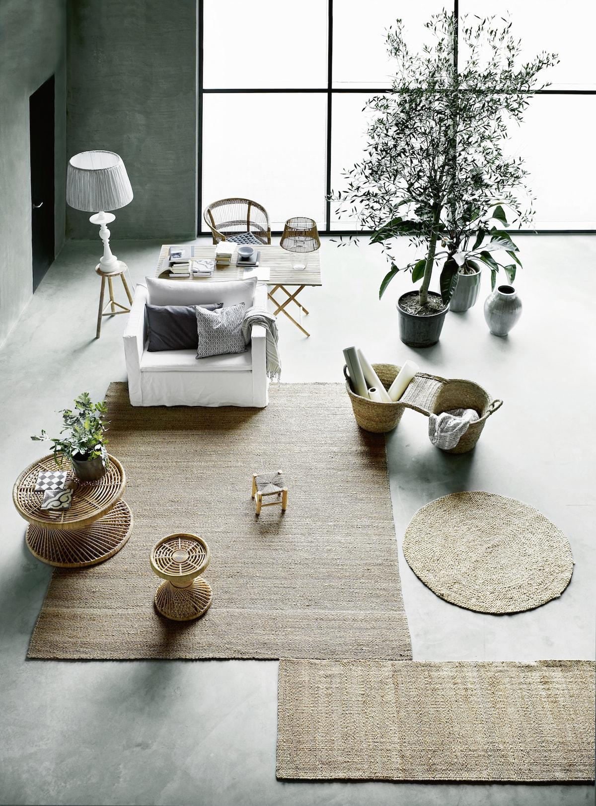 Tine K Home 80x250cm Natural Hemp & Jute Rug