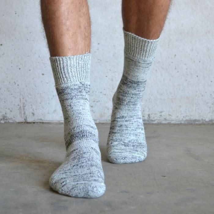 Tom Lane Grey Fleck Thick Wool Socks