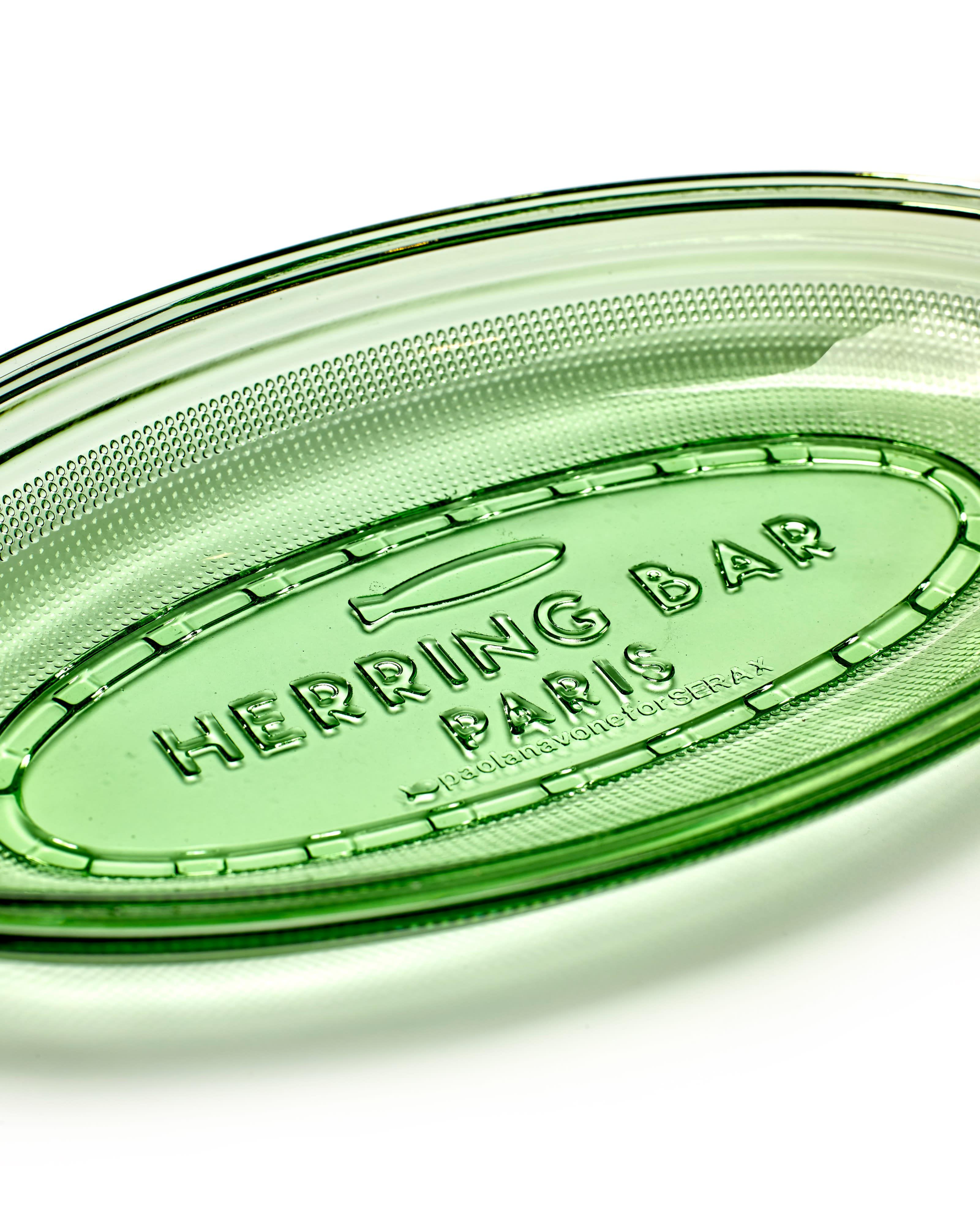 Serax Green Oval Herring Bar Flat Glass Dish