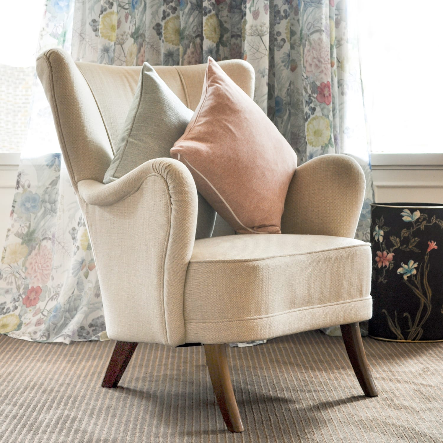 Jenny Blanc Cushion in 'Denim'