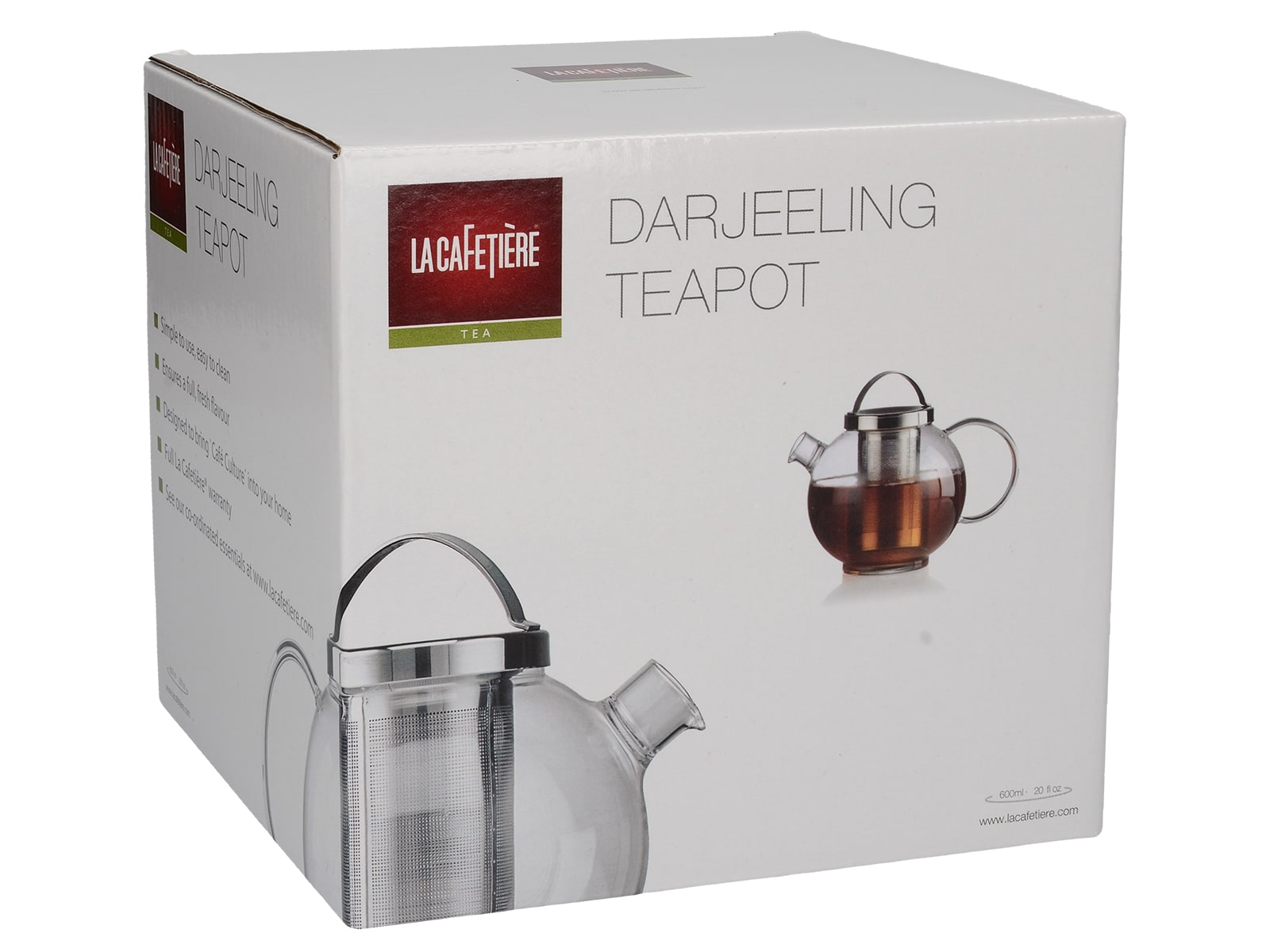 La Cafetiére 600ml Darjeeling Glass Teapot