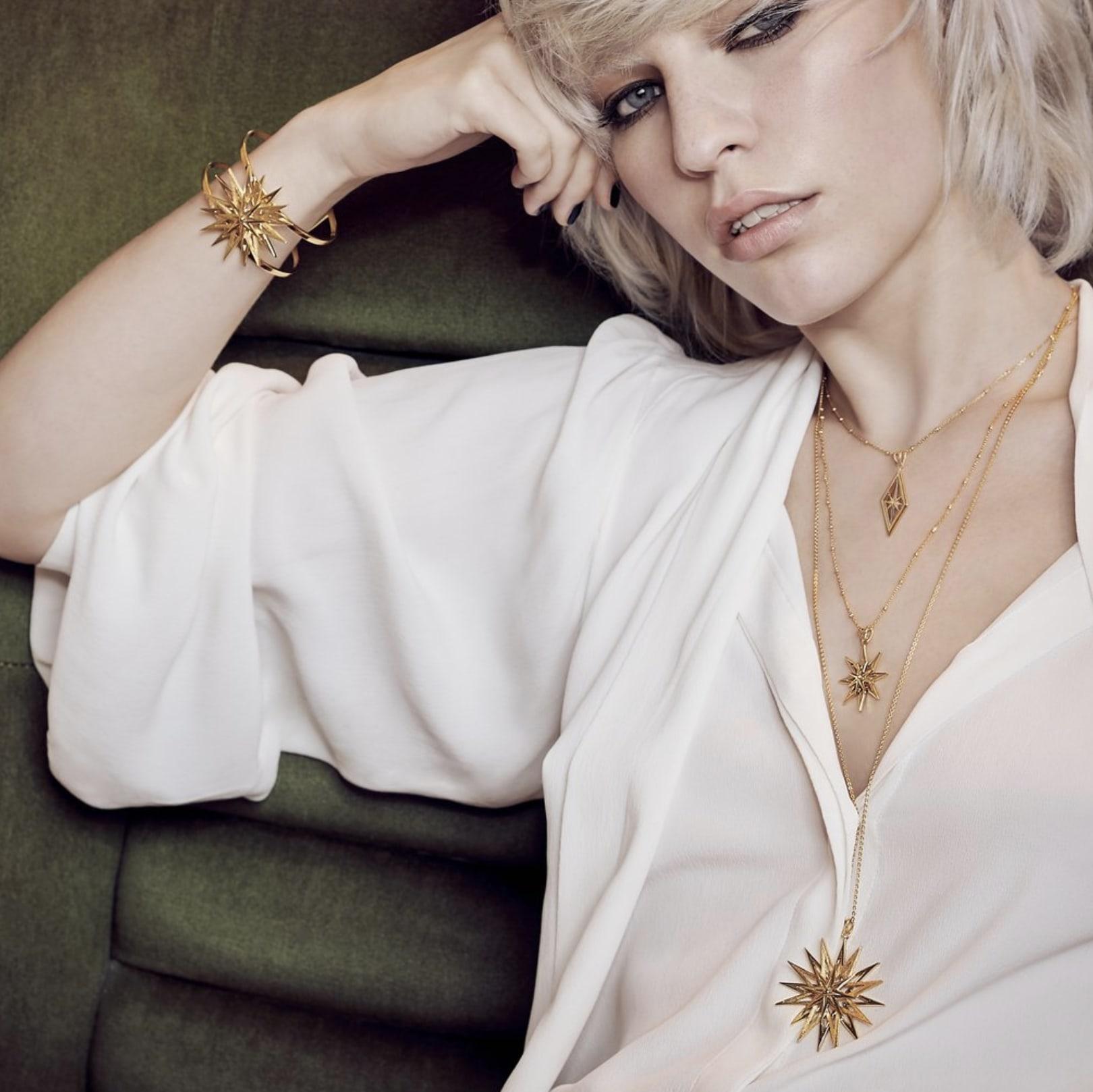 Rachel Jackson Rock Star Statement Necklace gold