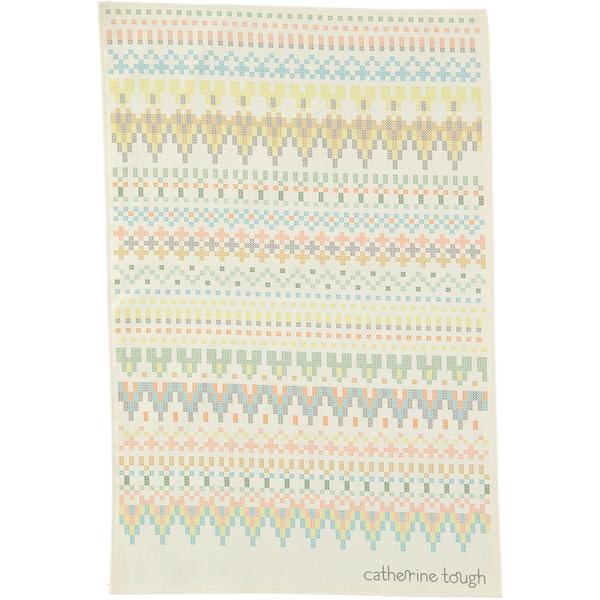 Catherine Tough Cross Stitch Print Tea Towel