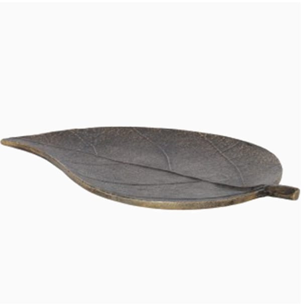 Bronze Metal Leaf Dish