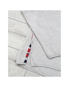 Duffy NY Soft Grey  Round Neck Cashmere Sweater