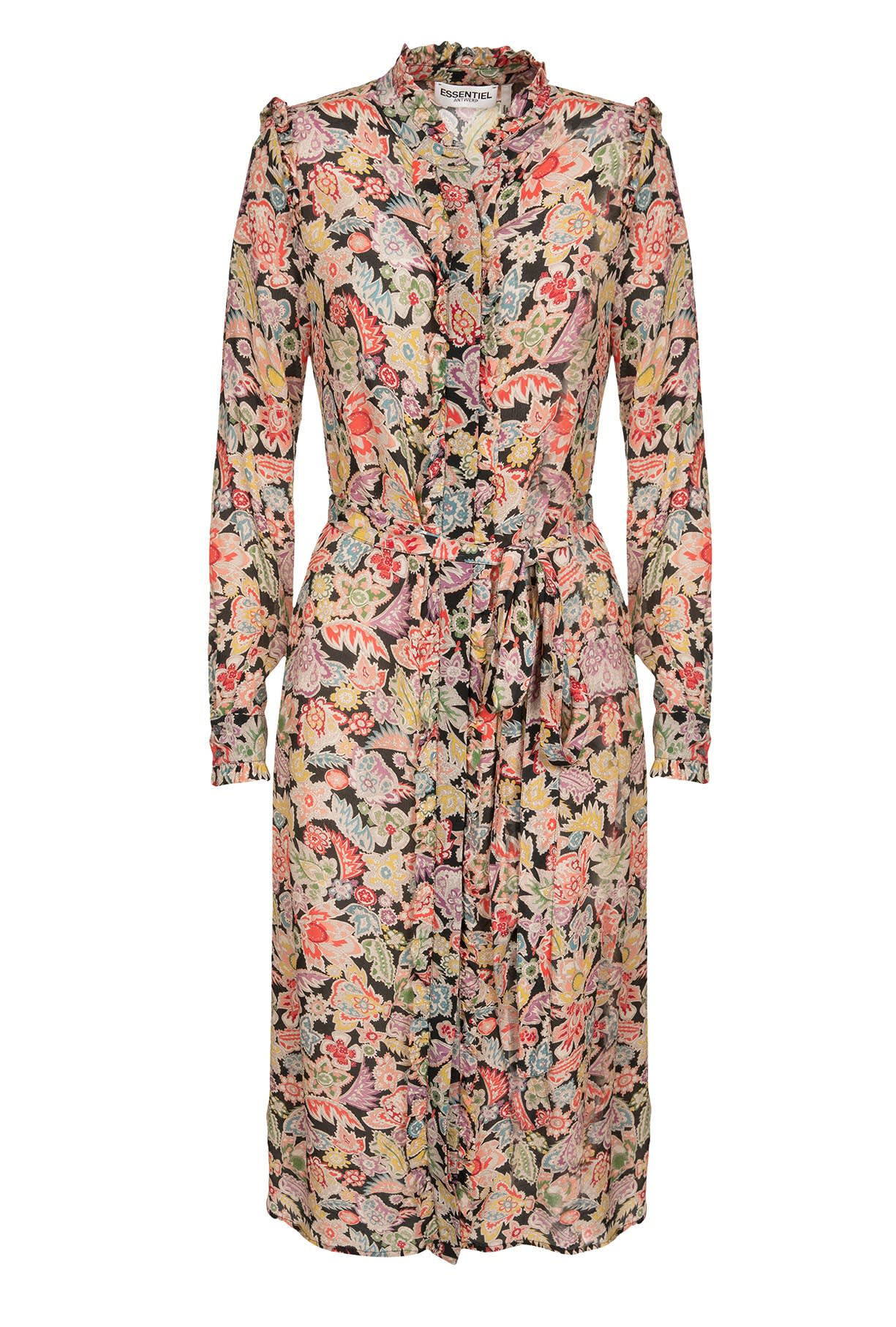 Essentiel Antwerp Ratatou Ruffled Shirt Dress