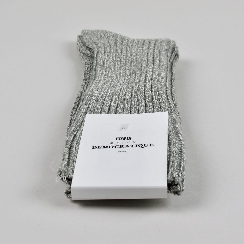 Democratique Socks Army/Off White Relax Rib Knit Edwin Men's Socks