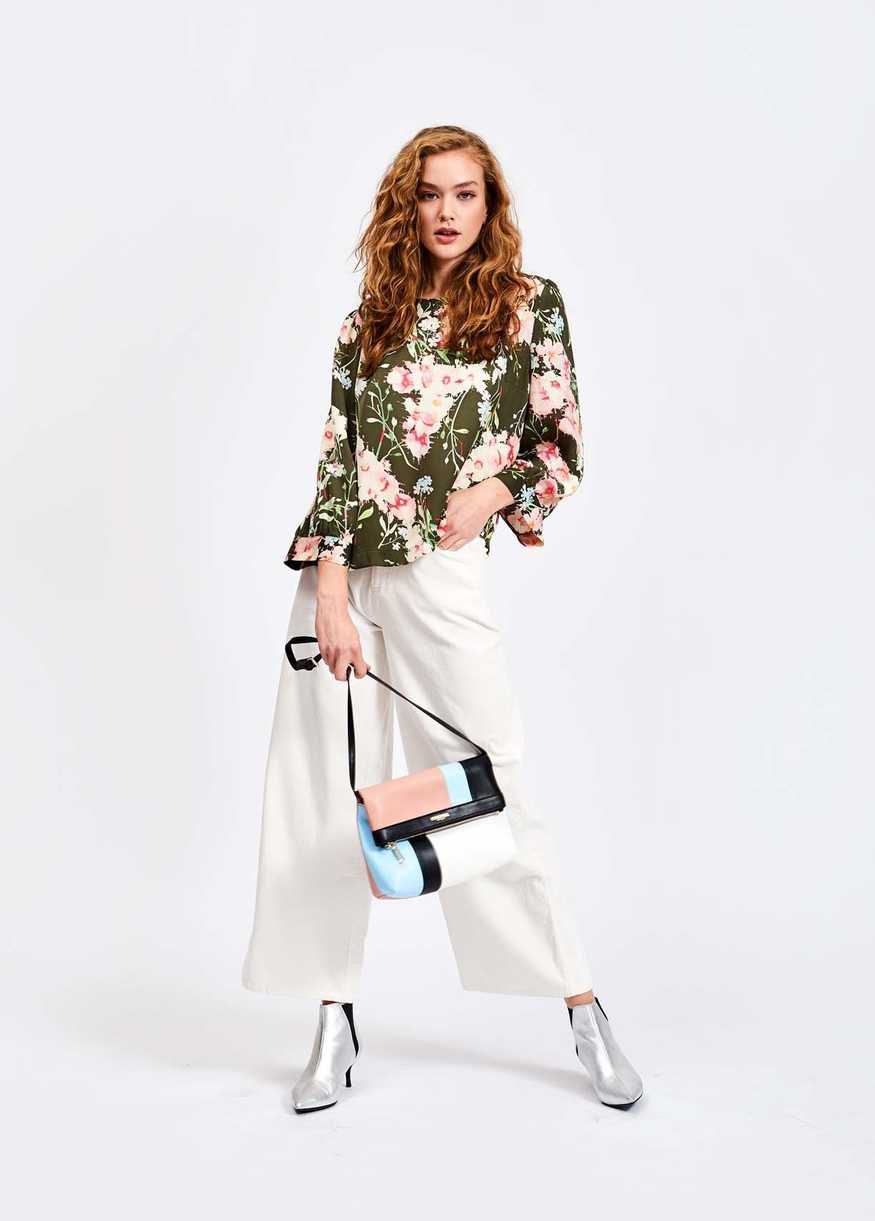 Essentiel Antwerp Saad Khaki Floral Top