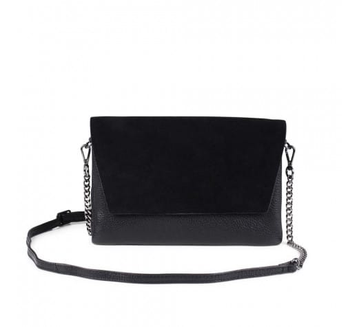 Markberg Black Suede Leona Crossbody Bag