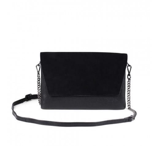 cdcb884fd Trouva: Black Suede Leona Crossbody Bag