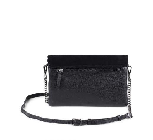 f29631781 Markberg Black Suede Leona Crossbody Bag