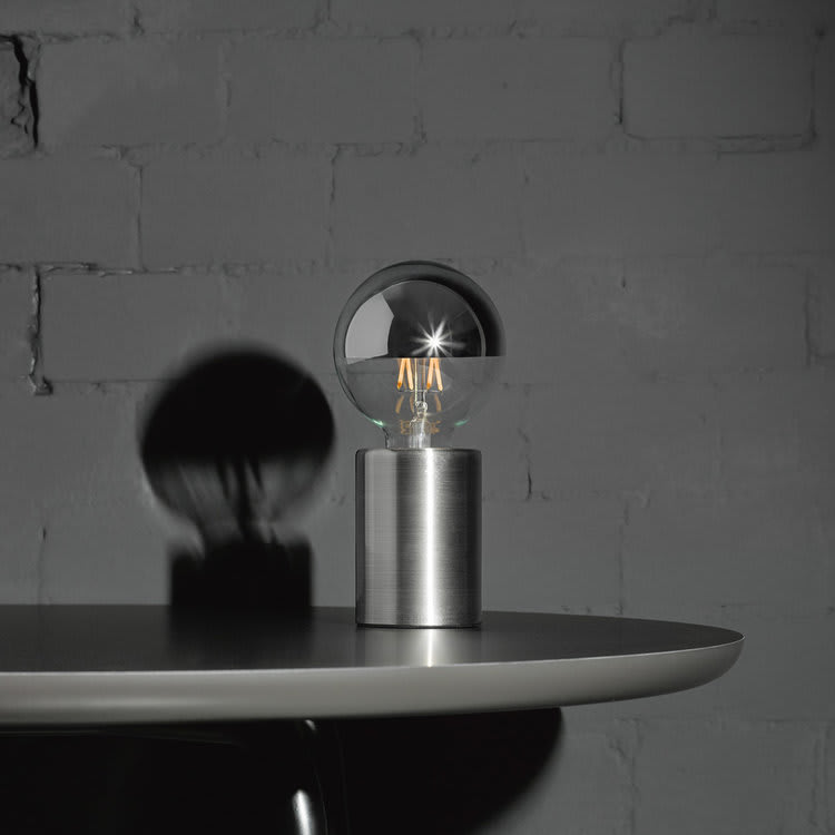 Edgar Orbis Black Marble Opaque Lamp