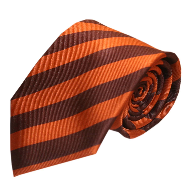 Gresham Blake Orange Classic Stripe Tie