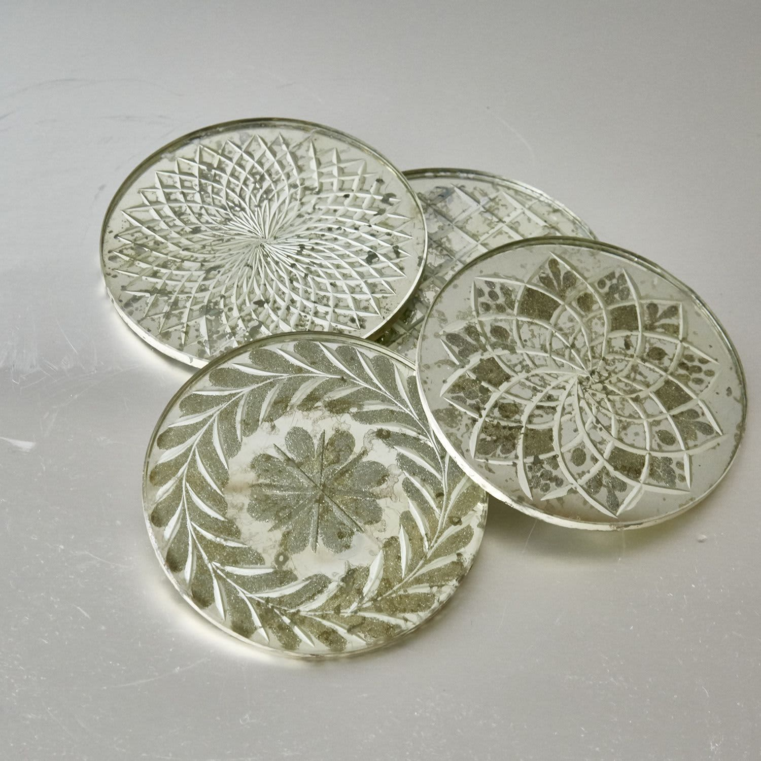 Nkuku Set of 4 Glass Coasters