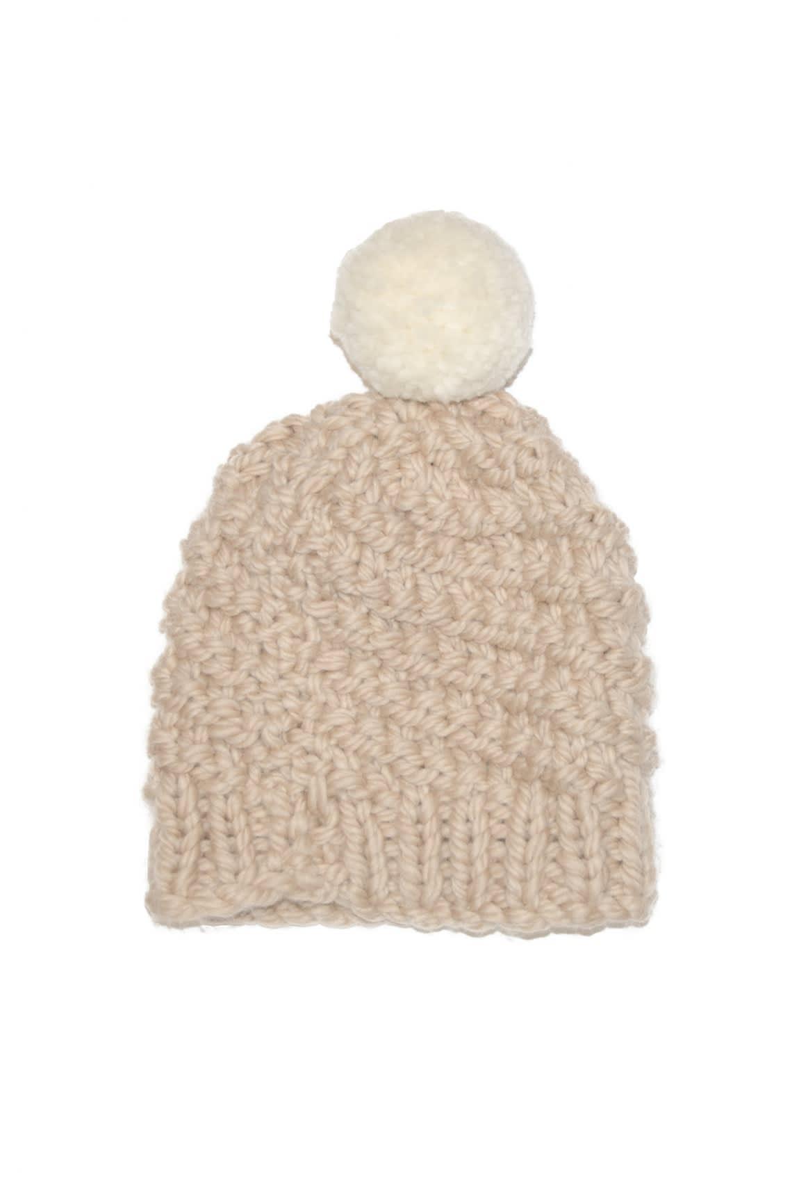 d4ad6e89d91 Les 100 Ciels Swan Bobble Hat Knit Kit - Rice