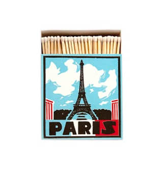 Archivist Long Luxury Matches with PARIS on the front and The Eiffel Tower