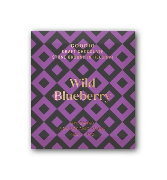 61% Wild Blueberry Raw Chocolate x 2