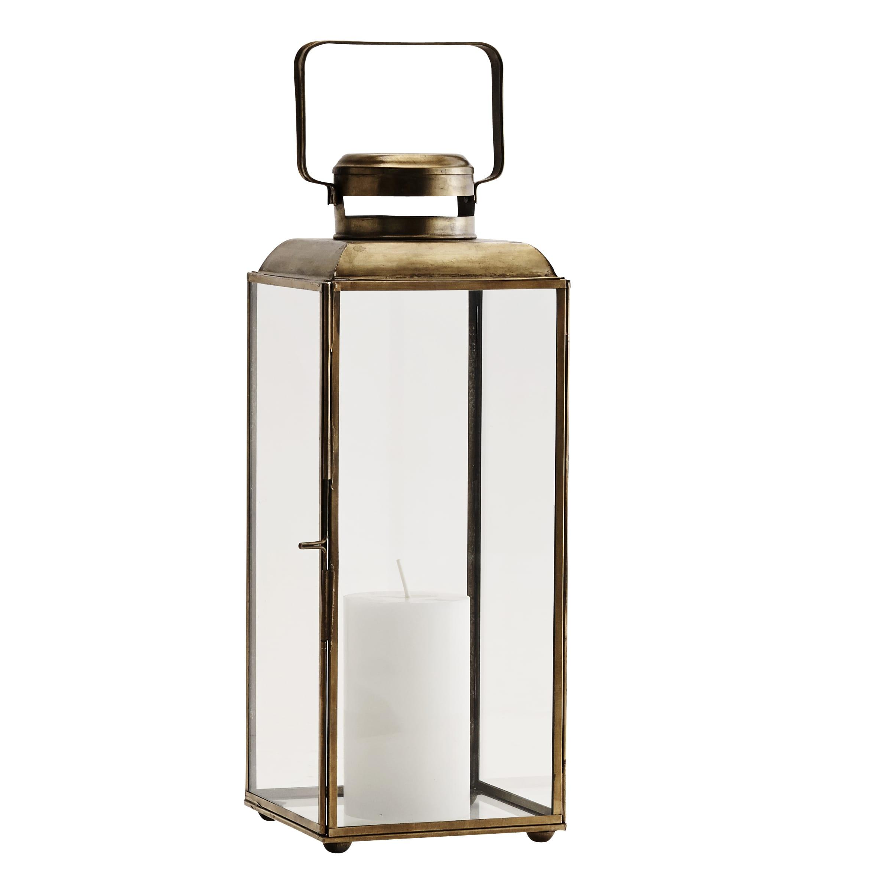 Madam Stoltz Tall Antique Brass Lantern