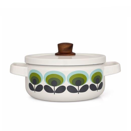 Orla Kiely Medium Enamel Sauce Pan
