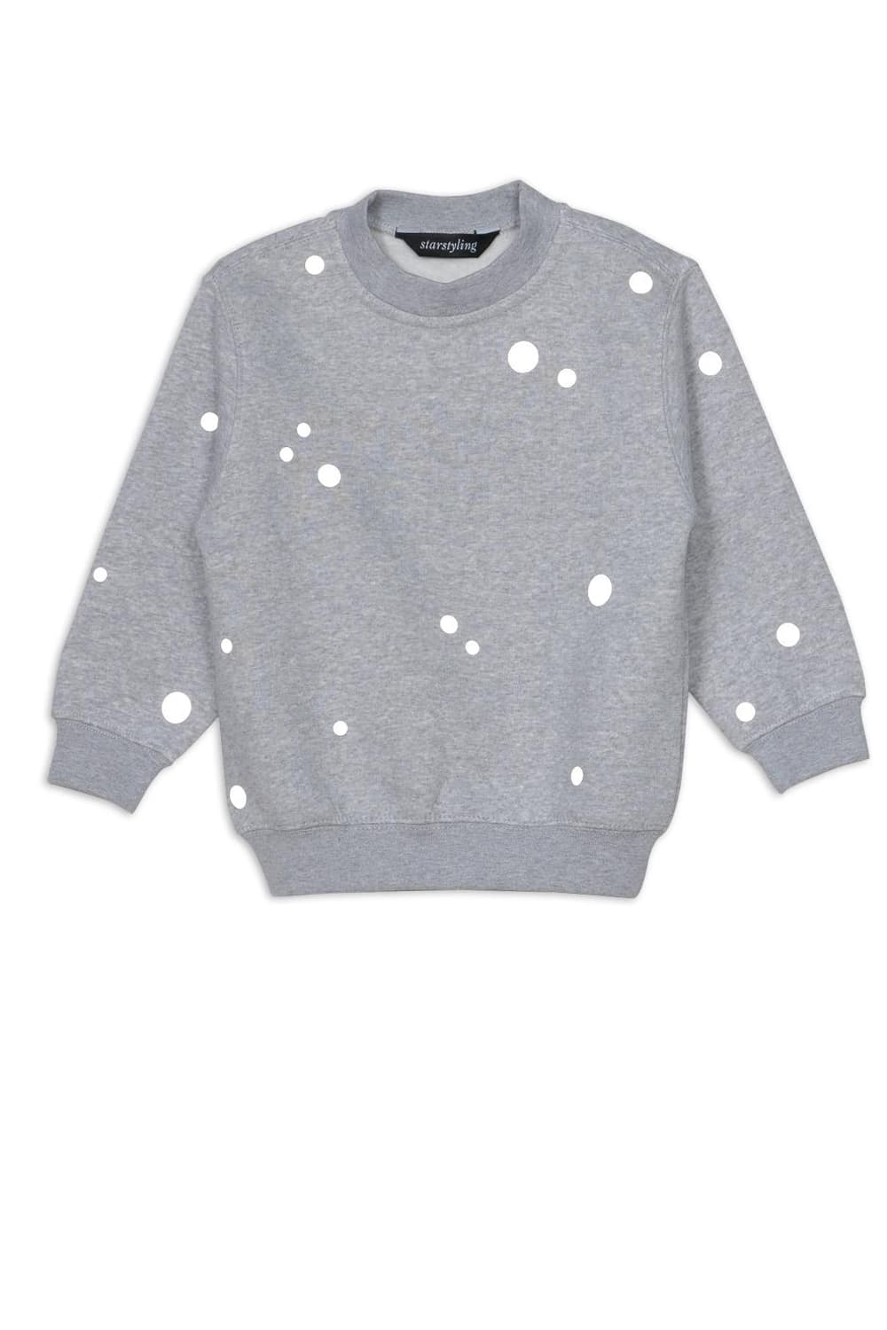 starstyling Grey 7 to 11 Years Reflective Dots Sweater