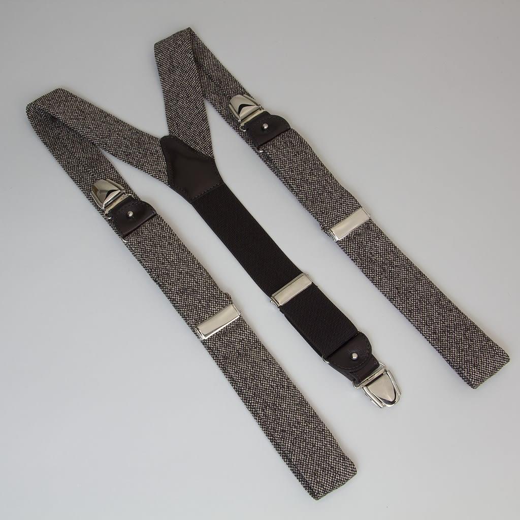 40 Colori Brown Dotted Linen Braces