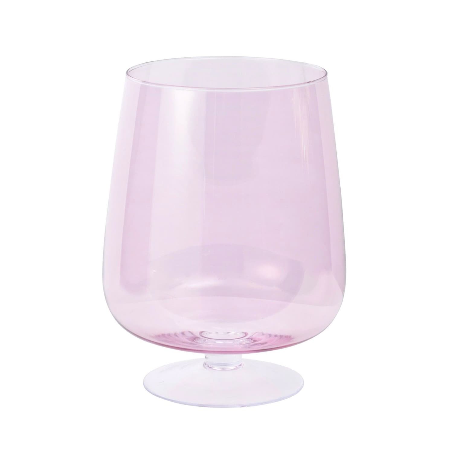 The Libra Company Pink Hand-Blown Glass Hurricane Vase