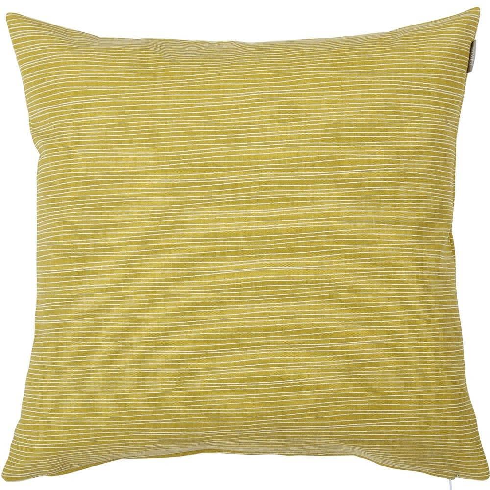 Spira of Sweden Mustard Line Cushion