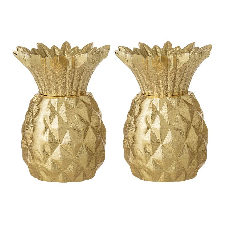 Bloomingville Gold Pineapple Salt And Pepper Shakers