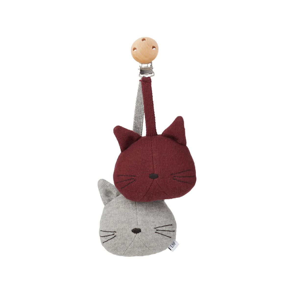 Liewood Grey Melange  Cat Rosa Pram Toy
