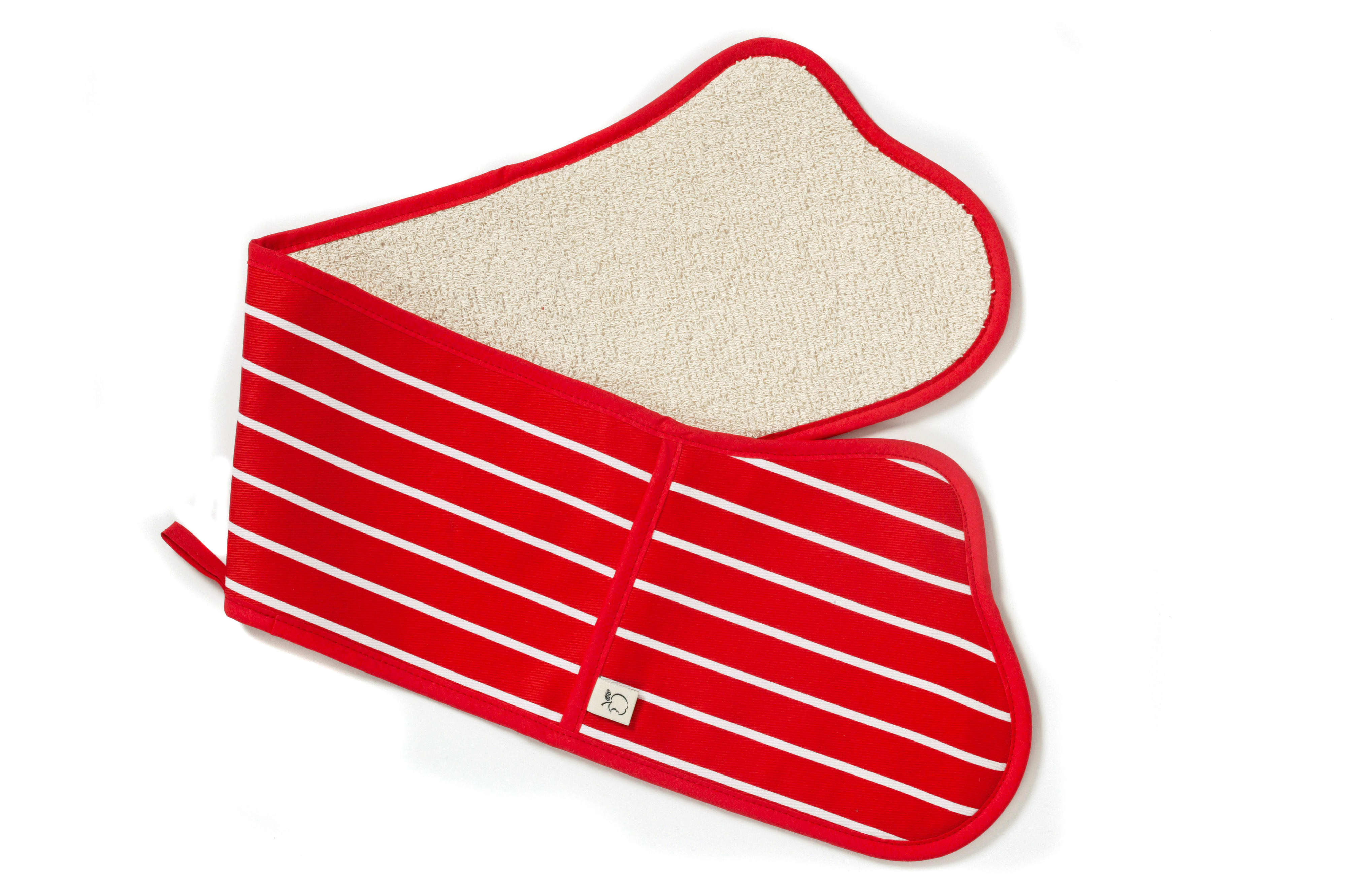 British Textile Company Red Butchers Stripe Double Oven Glove
