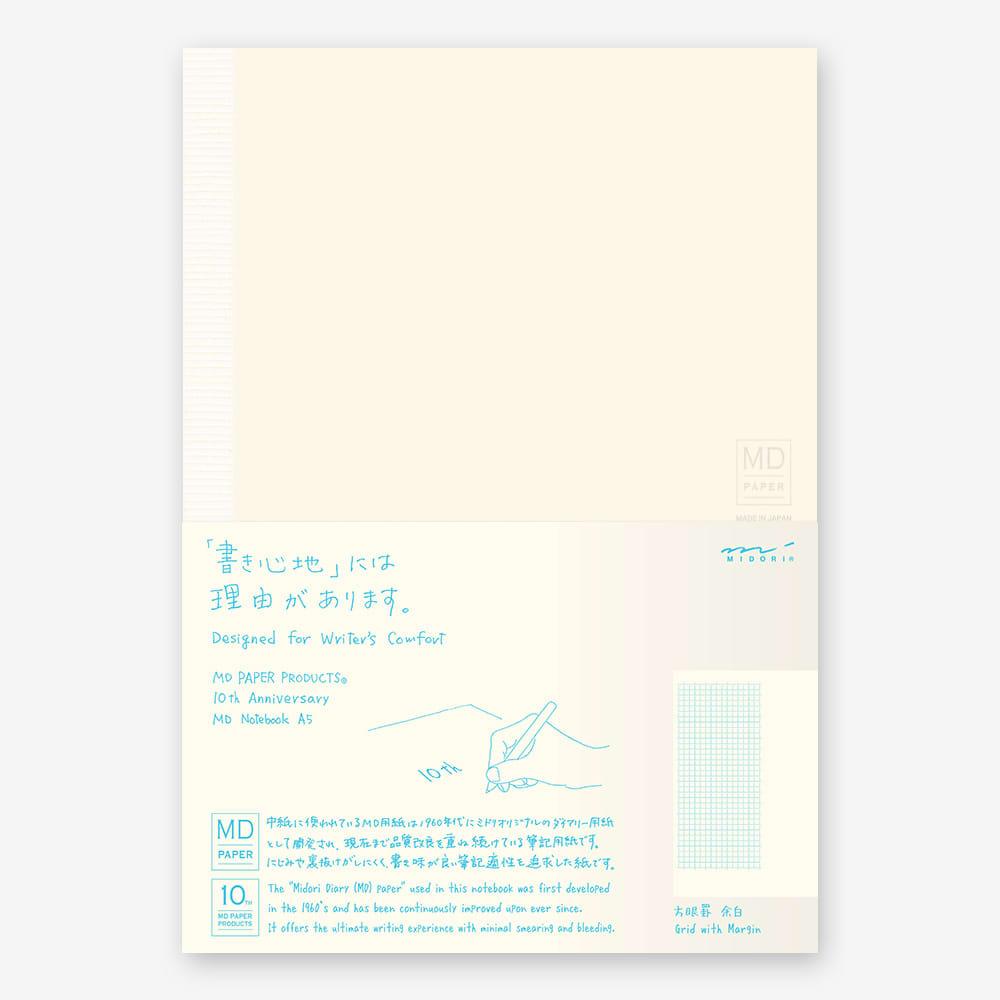 Midori A5 10th Anniversary Grid With Margin Notebook