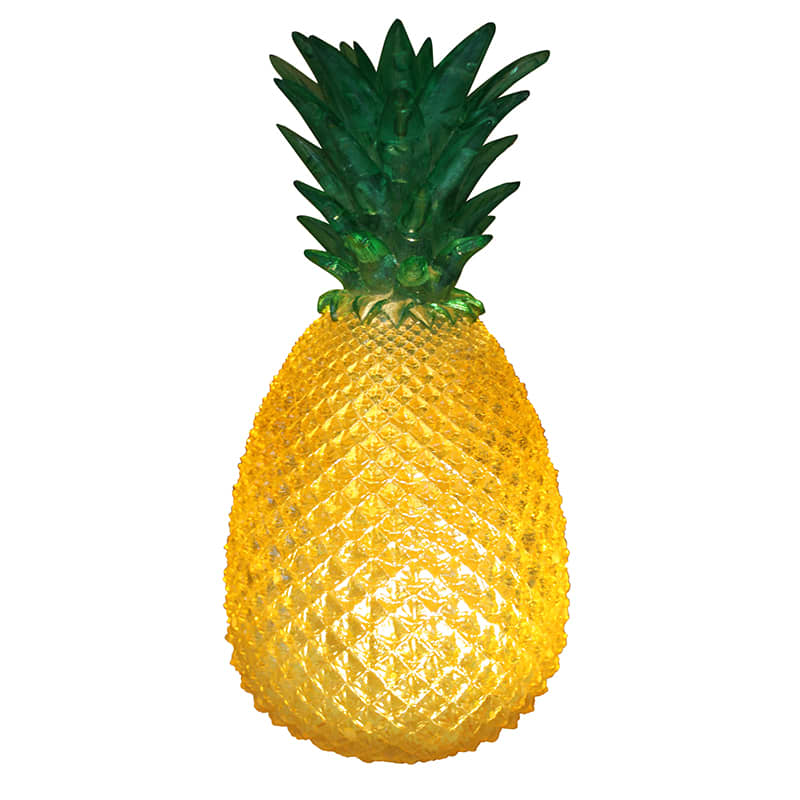 House of disaster Yellow Retro Cut Glass Effect Pineapple Lamp