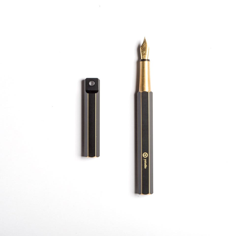 Ystudio Brassing NIB M Portable Fountain Pen