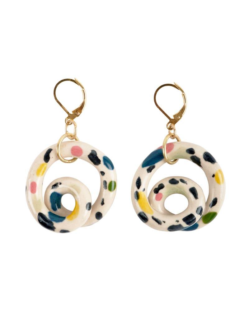 Aliyah Hussain Ceramic Loop Hoop Earrings