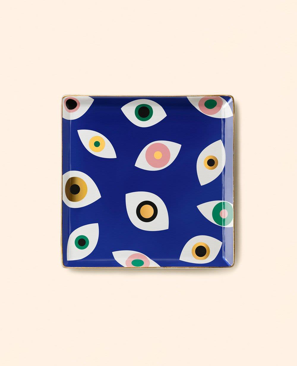 Octaevo Blue Mati Ceramic Tray