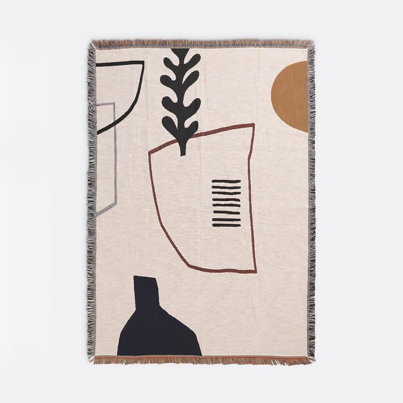 Ferm Living Off White Mirage Blanket