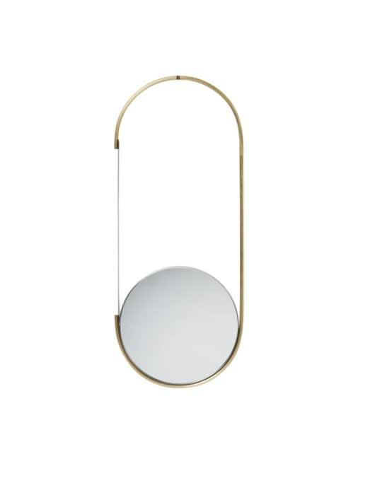 Kristina Dam Brass & Steel Mobile Mirror