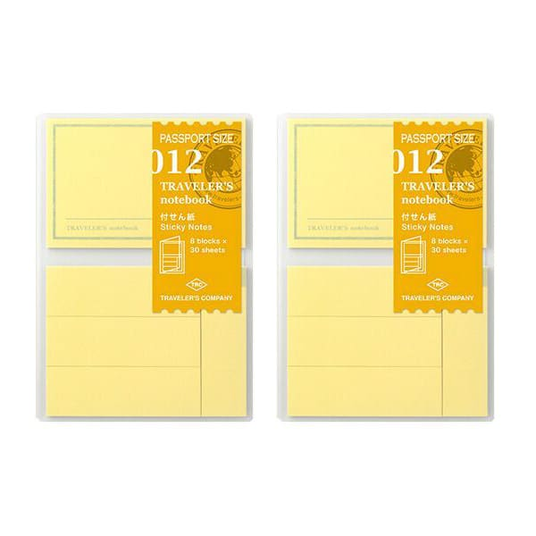Traveler's Company Traveler's Notebook Refill 012 Sticky Notes - Passport Size (2 units)