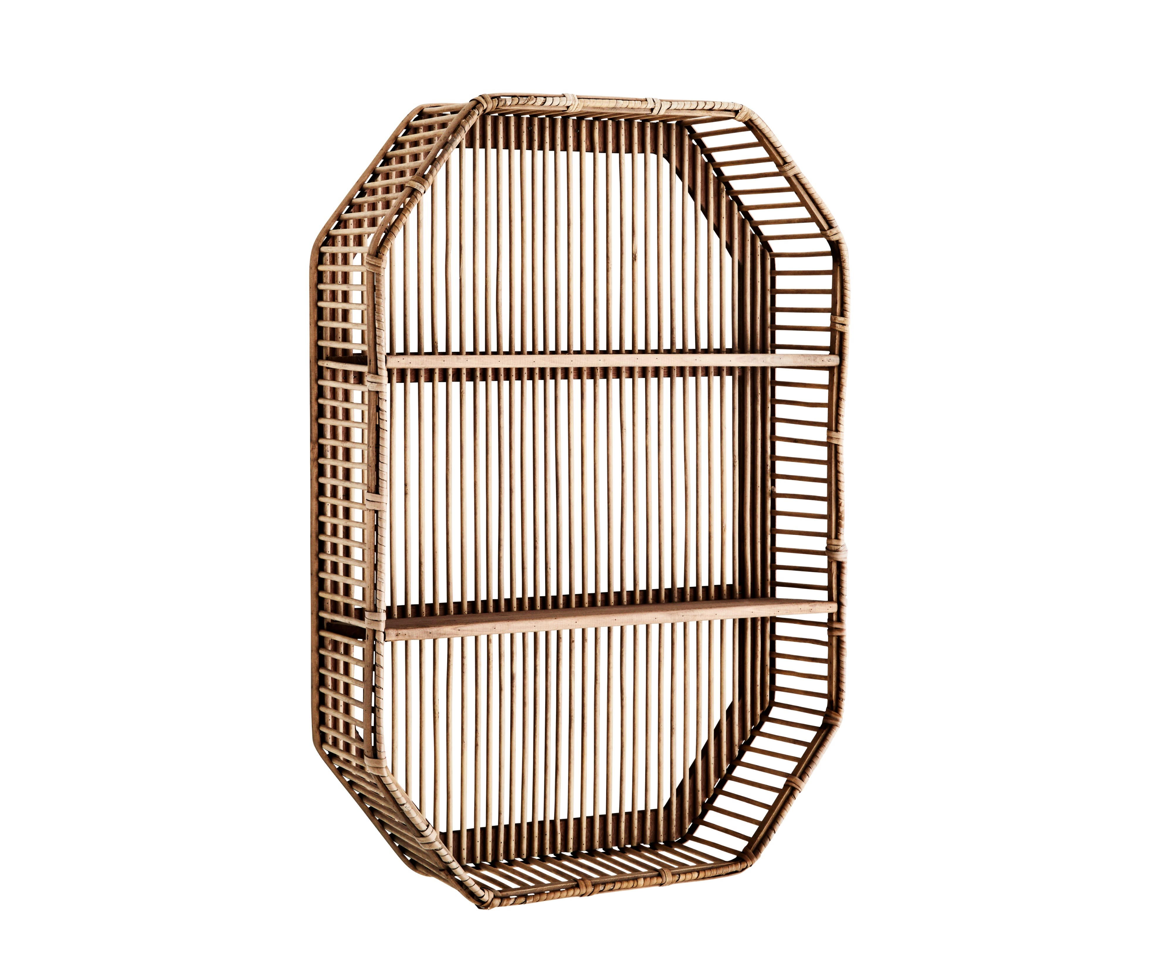 Madam Stoltz Octagon Bamboo Shelf