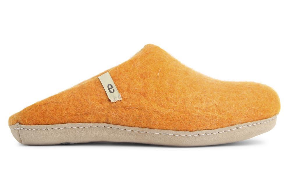 Egos Copenhagen Orange Felted Wool Slippers