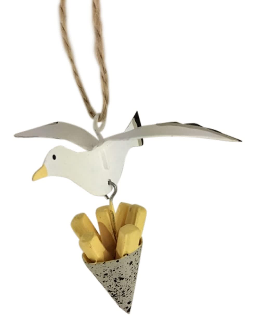 Shoeless Joe Seagull And Chips Decoration