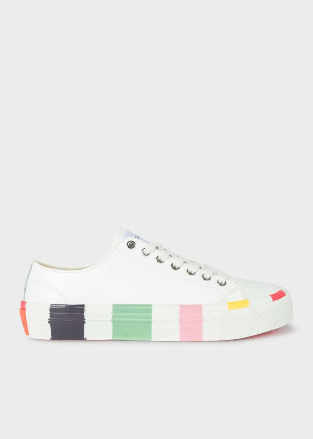 PS by Paul Smith White Leather Nolan Trainers