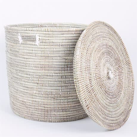 Afro Art Small White Sene Simon Basket