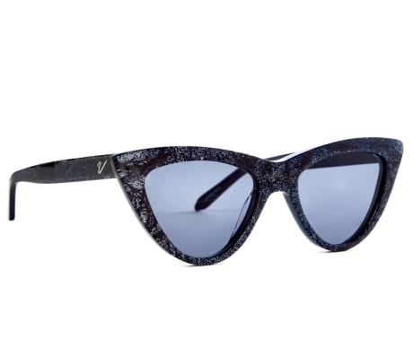 5bb321e5e4 Vow London Navy Glitter Nancy Sunglasses