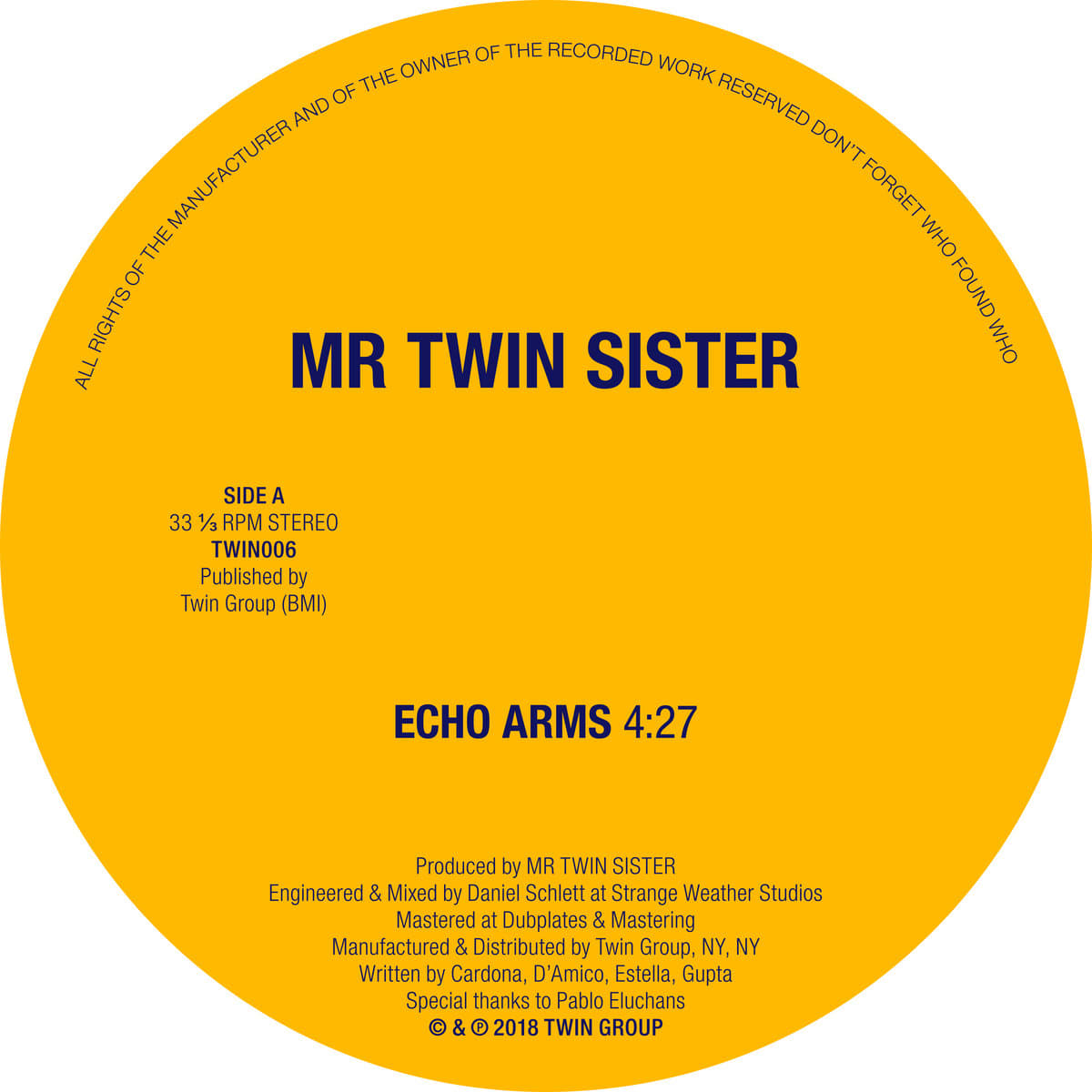 Mr Twin Sister - Echo Arms