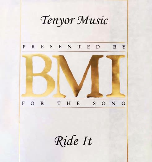"Regard's version of ""Ride It"" has received a BMI Citation of Achievement"