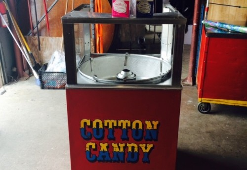 Cotton Candy Machine on Circus Cart