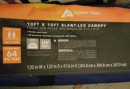 10 x 10 Slant leg canopy