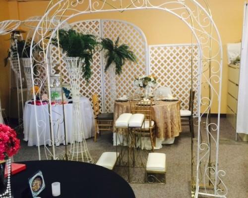 White Metal Wedding Arch