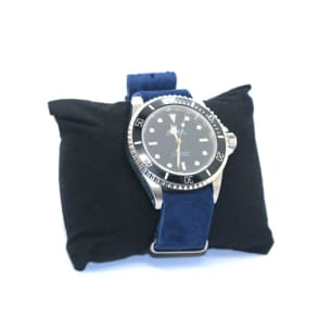 Suede Nato Watch Strap Blue